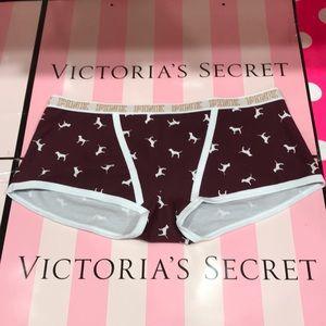 4/$38 💖PINK Victoria's Secret Logo Boyshort